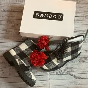 Buffalo Plaid Combat Boots